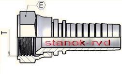 ФИТИНГ JIС прямой SAE J514 и ISO 725 или ISO 8434-2