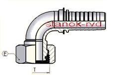 ГИДРАВЛИЧЕСКИЙ ФИТИНГ DKOL 90° CEL DIN 20066/3865 ISO8434-4 DIN ISO12151-2