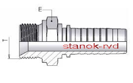 ФИТИНГ BSP ISO 228-1 щтуцер, наружная резьба ISO 8434-6 BS 5200