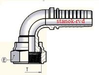 ФИТИНГ ORFS SAE J1453 И ISO 8434-3 РЕЗЬБА UNF/UN 90 градусов