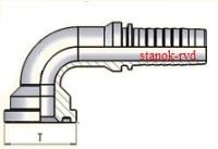 ФИТИНГ-ФЛАНЕЦ SFS УГЛОВОЙ 90 градусов, SAE J516/J518, ISO 6162-1/-2, CODE62, SAE FLANGE 6000psi, CAST TIEFFE VITILLO